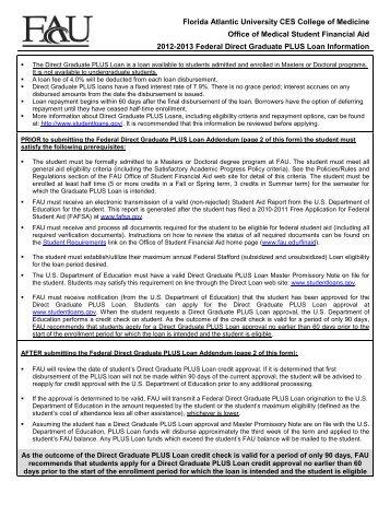 Florida Atlantic University CES College of Medicine Office of Medical ...