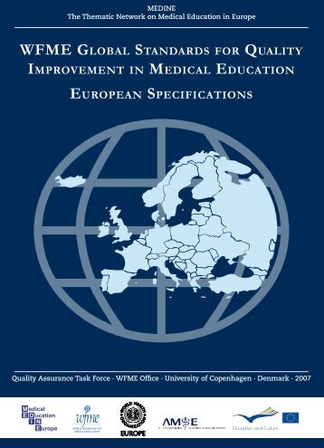 wfme global standards for quality improvement in medical education ...
