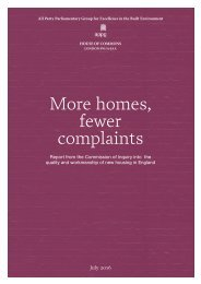More homes fewer complaints