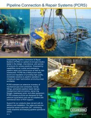 Pipeline Connection & Repair Systems (PCRS) - Oceaneering