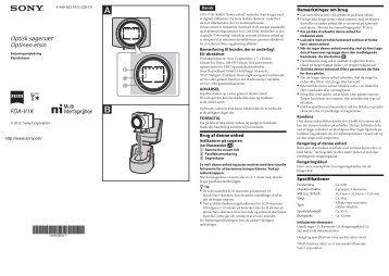 Sony FDA-V1K - FDA-V1K Istruzioni per l'uso Finlandese