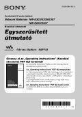 Sony NW-E205 - NW-E205 Istruzioni per l'uso Ungherese - Page 3