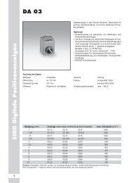 SIK O Digitale Positionsanzeigen DA 03