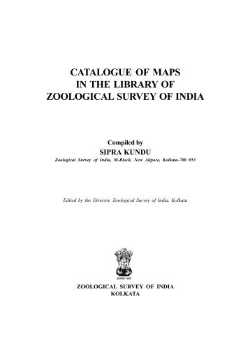 CATALOGUE OF MAPS IN THE LIBRARY OF ZOOLOGICAL ...
