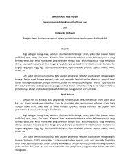 Analisis Semiotika final terhadap Kosakata Jawa dan
