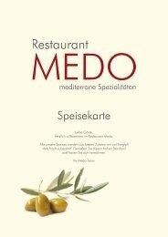 Speisekarte - Restaurant Medo