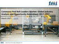 Conveyors And Belt Loaders Market Volume Analysis, size, share and Key Trends 2017-2027