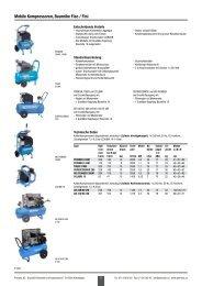 Mobile Kompressoren, Baureihe Fiac / Fini