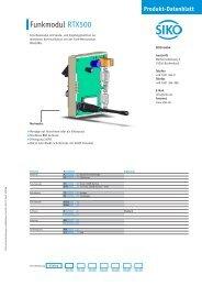 Produkt-Datenblatt - SIKO GmbH