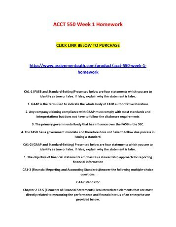 acct 550 week 1 assignment 313 words - 2 pages ashford bus 591 complete week 5 purchase here   com week 1 assignment: acc 205 week one exercise basic accounting.