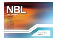 Latest Presentation - Noble Energy