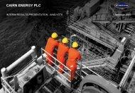 CAIRN ENERGY PLC - The Group