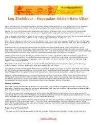 Log Zhelebour : Kegagalan Adalah Batu Ujian - Jogjabelajar