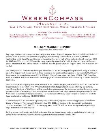 weekly finance report
