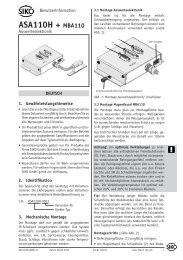 ASA110H + MBA110 - SIKO GmbH