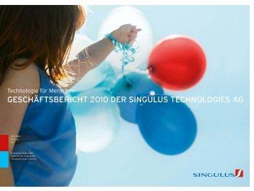 GESCHÄFTSBERICHT 2010 DER SINGULUS TECHNOLOGIES AG