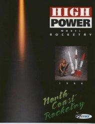 1996 North Coast Rocketry Catalog - Ninfinger Productions