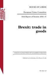 Brexit trade in goods