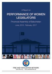 PERFORMANCE OF WOMEN LEGISLATORS