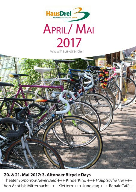 HausDrei Programmheft April/Mai 2017