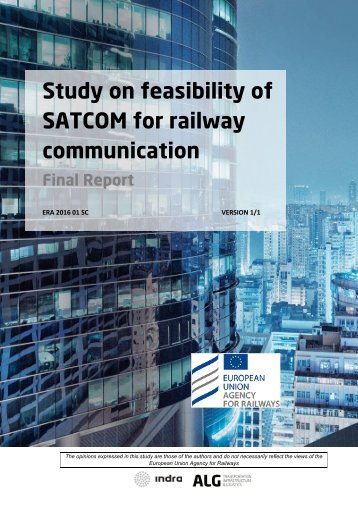 Study on feasibility of SATCOM for railway communication
