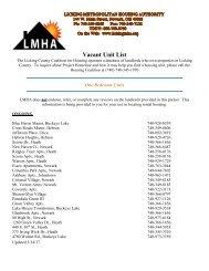 Vacant Unit List
