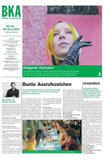 Berner Kulturagenda 2017 N° 10