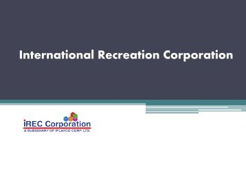 International Recreation Corporation (IREC) - Canada and the Philippines