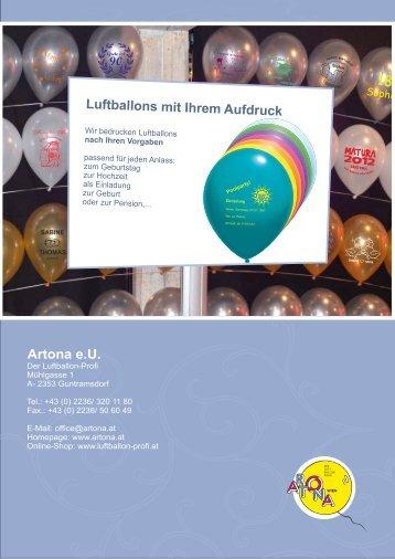 Luftballons bedrucken lassen, Kleinmengen Onlinekatalog