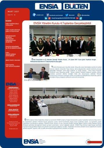 ENSİA Yönetim Kurulu 4.Toplantısı Gerçekleştirildi