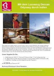 Mit dem Luxuszug Deccan Odyssey durch Indien
