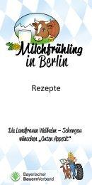 Rezeptflyer Milchfrühling Berlin 2017