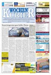 Wochen-Kurier 11/2017 - Lokalzeitung für Weiterstadt und Büttelborn