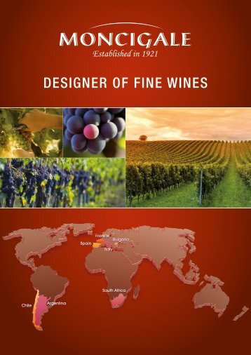 BROCHURE DESIGNER OF FINE WINES