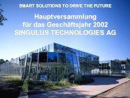 Präsentation - Singulus Technologies AG