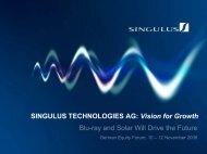 Optical Disc - Singulus Technologies AG