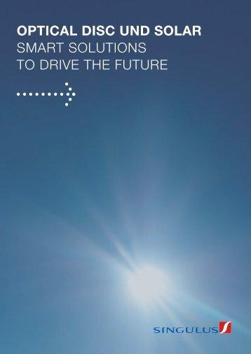 optical disc und solar - Singulus Technologies AG