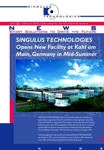 SINGULUS TECHNOLOGIES Opens New Facility at Kahl ... - stangl.de