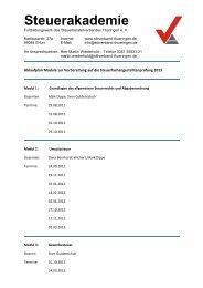 Steuerakademie - beim Steuerberaterverband Thüringen eV