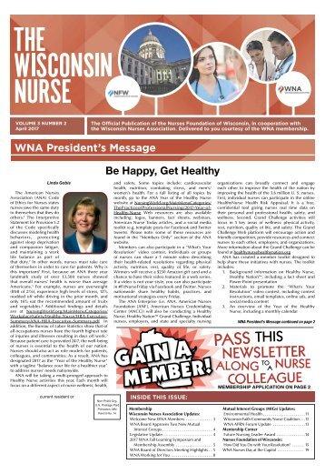 Wisconsin Nurse - April 2017