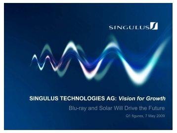 Market share Blu-ray (%) Sales development (Mio €) - Singulus ...