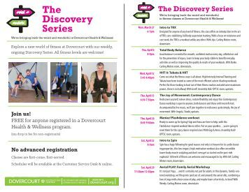 Dovercourt's Discovery series Fitness classes April2017
