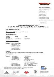 Qualifikationskriterien 2011/2012 für U23 WM/ JWM ...