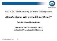 FSC-CoC Zertifizierung für mehr Transparenz ... - TÜV Süd