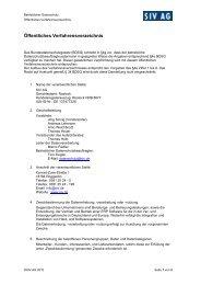 Öffentliches Verfahrensverzeichnis - SIV.AG