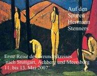 Auf den Spuren Hermann Stenners