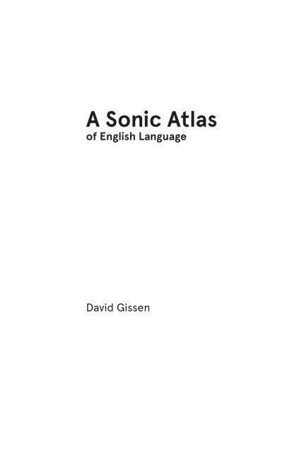 A Sonic Atlas