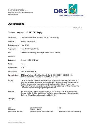 DRS Ausschreibung Martinsschule - Rollstuhl-Rugby.de