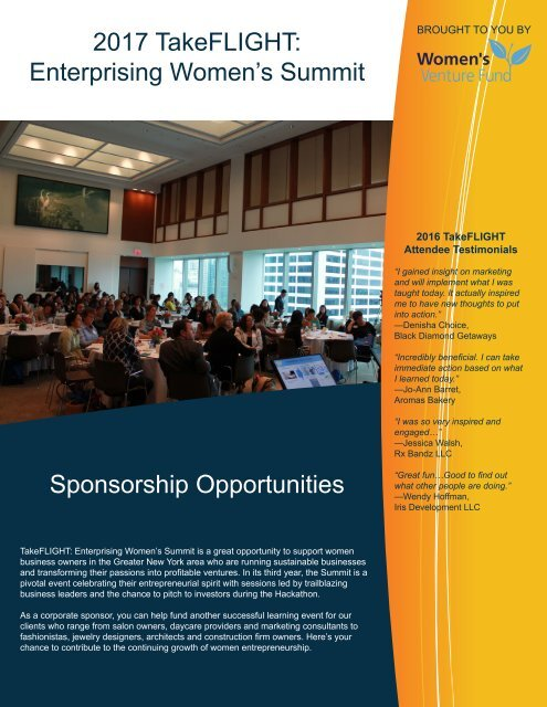 2017 TakeFlight Sponsorship Package
