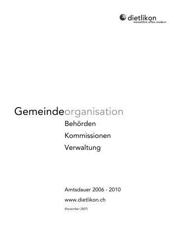 Gemeindeorganisation - Dietlikon